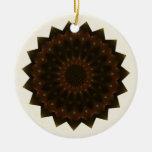 Mandala del caleidoscopio de la estrella del otoño ornamento de navidad