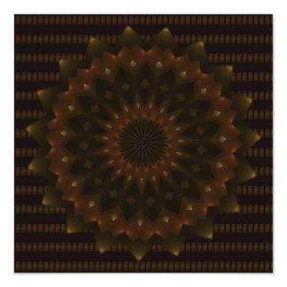 Mandala del caleidoscopio de la estrella del otoño invitación 13,3 cm x 13,3cm