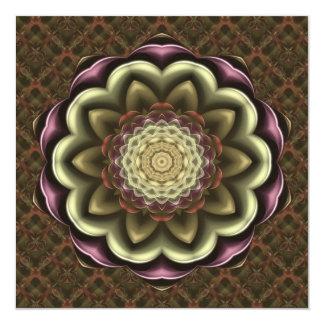 Mandala del caleidoscopio de la flor del cactus invitación 13,3 cm x 13,3cm