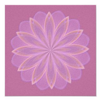 Mandala del caleidoscopio de la floración de invitación 13,3 cm x 13,3cm