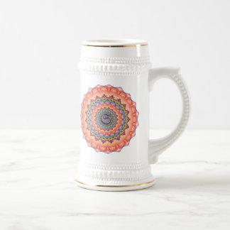 Mandala del caleidoscopio de la floración de jarra de cerveza