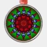 Mandala del caleidoscopio de la rueda de Yule Ornamento De Navidad