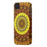 Mandala del caleidoscopio de las hojas de otoño iPhone 4 protectores