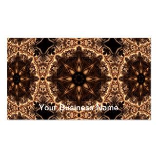 Mandala del caleidoscopio de Starburst del demonio Tarjetas De Visita