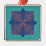 Mandala del caleidoscopio de Violeta Adornos De Navidad