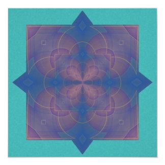Mandala del caleidoscopio de Violeta Invitación 13,3 Cm X 13,3cm
