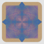 Mandala del caleidoscopio de Violeta Pegatina Cuadrada