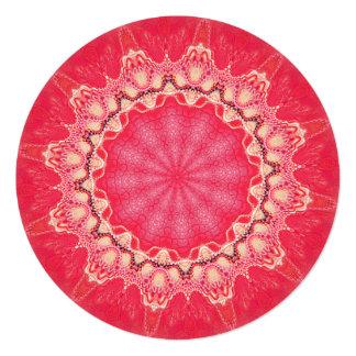 """Mandala del caleidoscopio del giro de la invitación 5.25"""" x 5.25"""""""