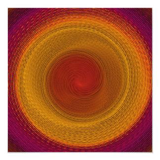 Mandala del caleidoscopio del giro del flamenco invitación 13,3 cm x 13,3cm