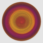 Mandala del caleidoscopio del giro del flamenco pegatina redonda