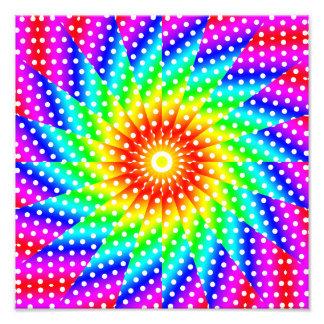 Mandala del caleidoscopio del lunar del arco iris arte fotografico