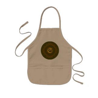 Mandala del caleidoscopio del medallón de Tailtiu Delantal Infantil