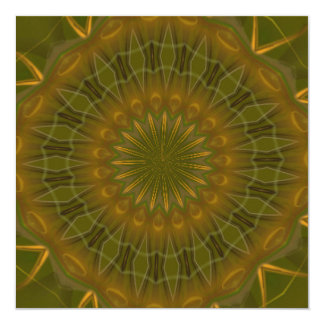 Mandala del caleidoscopio del medallón de Tailtiu Invitación 13,3 Cm X 13,3cm