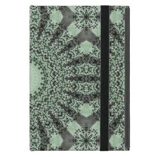Mandala del caleidoscopio en sombras del verde iPad mini protectores