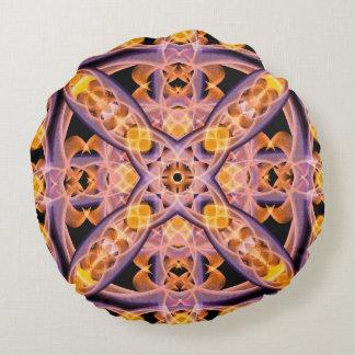 Mandala del calor cojín redondo