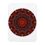 Mandala del chocolate y de las fresas, abstracta imanes rectangulares