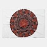 Mandala del chocolate y de las fresas, abstracta toalla de mano