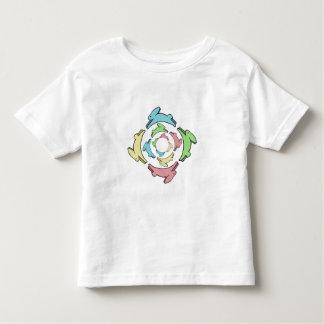 Mandala del conejito en cuatro colores en colores playera de bebé