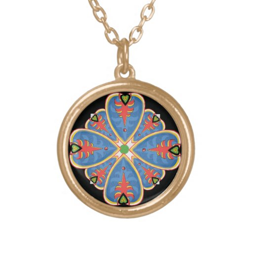 Mandala del corazón del collar