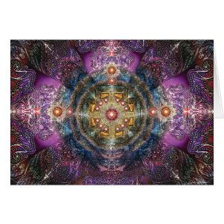 Mandala del corazón tarjeta de felicitación
