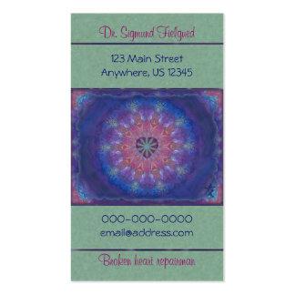Mandala del corazón tarjetas de visita