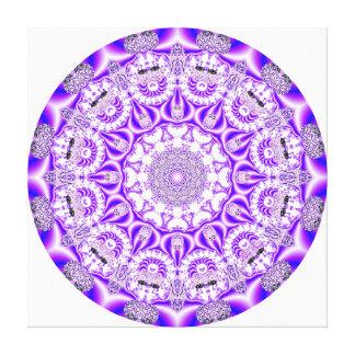 Mandala del cordón de mosaico, púrpura violeta abs lienzo envuelto para galerias