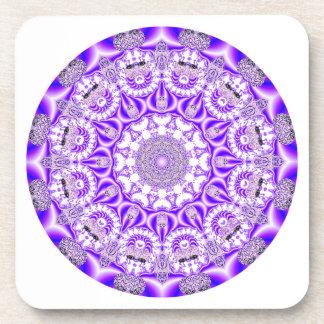 Mandala del cordón de mosaico, púrpura violeta abs posavasos de bebidas