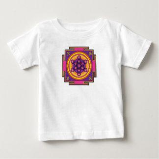 Mandala del cubo de Metatron Playera De Bebé