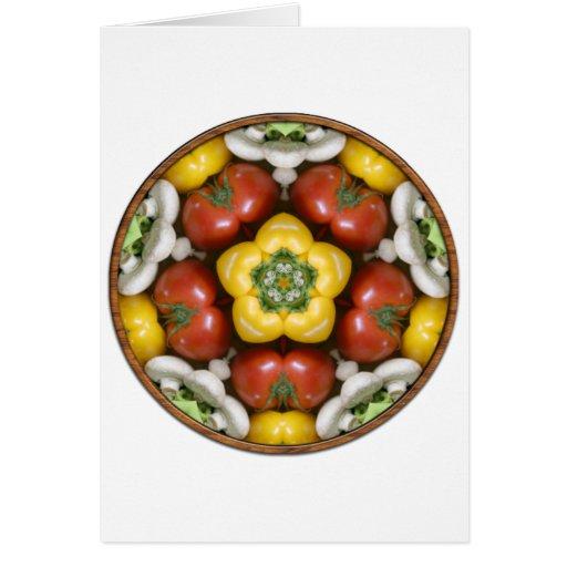 Mandala del cuenco de ensalada tarjeta de felicitación