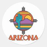 Mandala del desierto de Arizona Pegatina Redonda