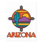 Mandala del desierto de Arizona Tarjeta Postal