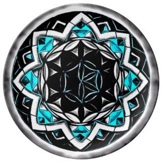 Mandala del destierro platos de cerámica