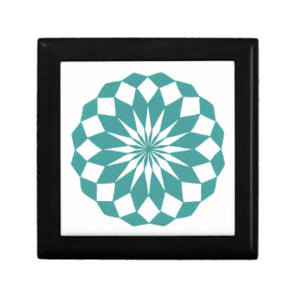 Mandala del diamante en caja de regalo de la turqu