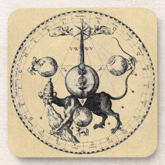 Mandala del emblema de la cábala posavasos de bebidas
