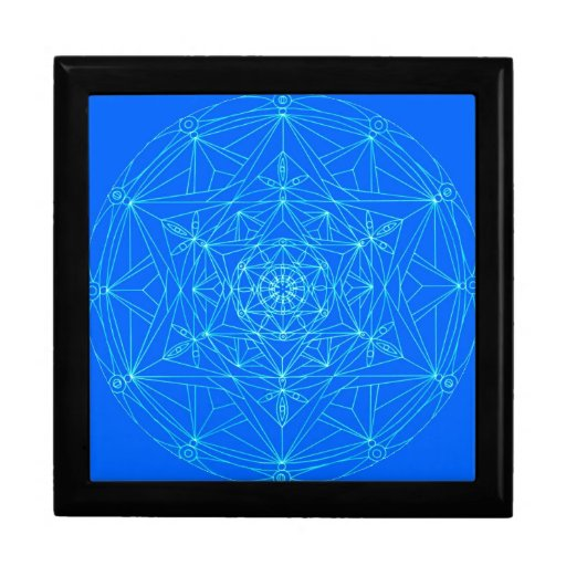 Mandala del extracto de la estrella del boxe del r cajas de joyas
