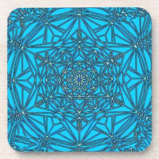 Mandala del extracto de la estrella del práctico d posavasos de bebida