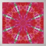 Mandala del geranio poster