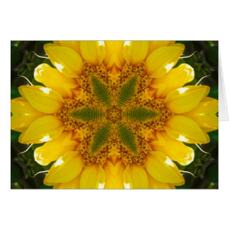 Mandala del girasol tarjeta de felicitación
