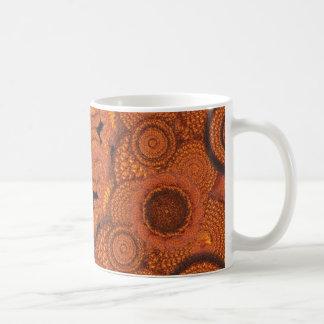 mandala del girasol taza