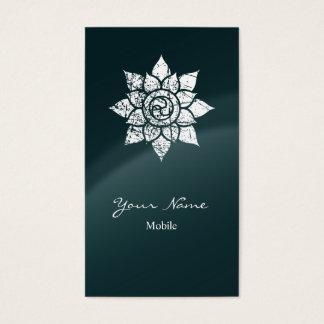 Mandala del Grunge Tarjeta De Negocios
