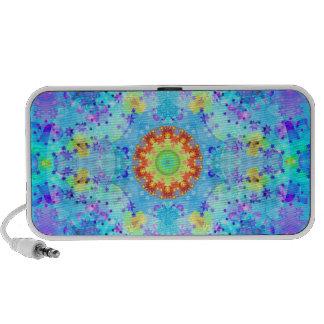 Mandala del hippy de la estrella azul modelada mini altavoz