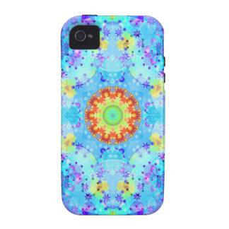 Mandala del hippy de la estrella azul modelada iPhone 4/4S carcasa