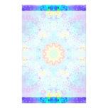Mandala del hippy de la estrella azul modelada papeleria personalizada