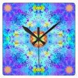 Mandala del hippy de la estrella azul modelada relojes