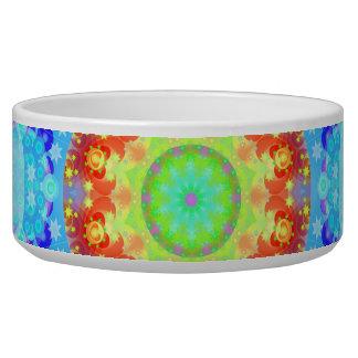 Mandala del hippy de la estrella azul modelada tazones para perro