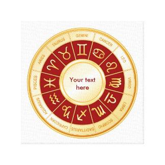 Mandala del horóscopo impresion de lienzo