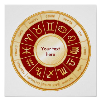 Mandala del horóscopo póster