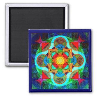 Mandala del imán inspirado de la energía positiva