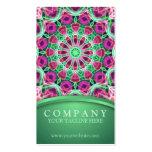 Mandala del jardín de flores tarjeta de negocio