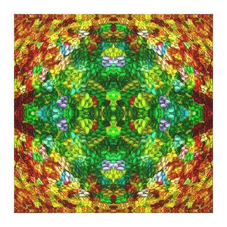 Mandala del jardín del huevo de Pascua Impresión En Lona